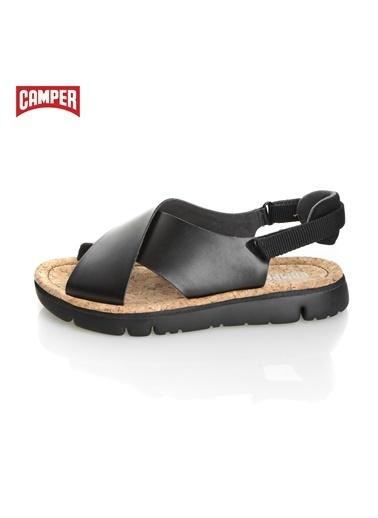 Camper %100 Deri Sandalet Siyah